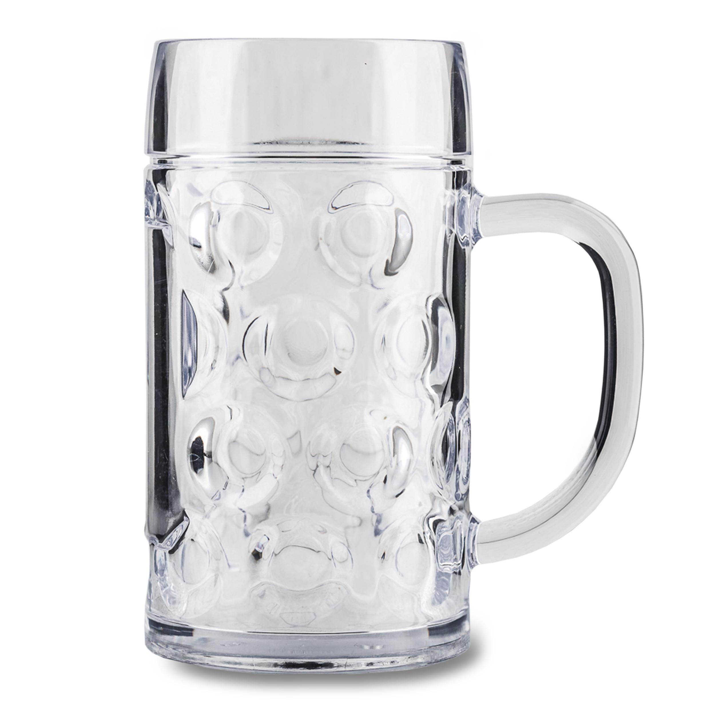 Bierkrug Kunststoff 0,5 L inkl. Deckel